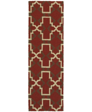 Closeout! Tommy Bahama Home Atrium Indoor/Outdoor 51103 Red/Brown 2'6