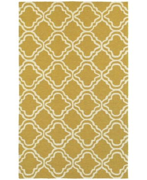 Closeout! Tommy Bahama Home Atrium Indoor/Outdoor 51112 Gold/Ivory 5' x 8' Area Rug