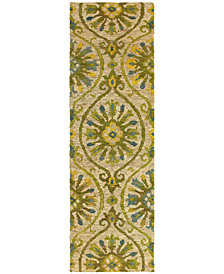 "Tommy Bahama Home  Valencia 57701 Beige/Green 2'6"" x 8' Runner Area Rug"