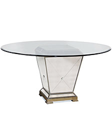 "Marais Table, 54"" Mirrored Dining Table"
