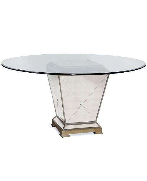 "Furniture Marais Table, 54"" Mirrored Dining Table"