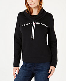 Tommy Hilfiger Cowl-Neck Logo Top