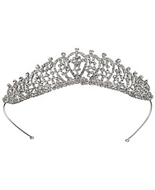 Jewel Badgley Mischka Silver-Tone Crystal Tiara
