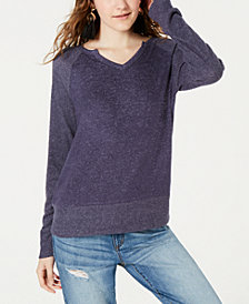 Hippie Rose Juniors' Brushed Knit Top