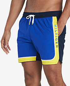 "Tommy Hilfiger Men's Rapallo Colorblocked 6.5"" Swim Trunks, Created for Macy's"