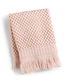"French Connection Dorinda Cotton 13"" x 13"" Fringe Washcloth, Created for Macy's"
