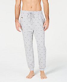 Lacoste Men's Signature-Print Jogger Pajamas