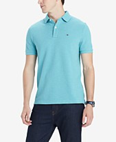 e335590bb2ef Tommy Hilfiger Men s Custom-Fit Ivy Polo