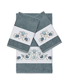 Bella 3-Pc. Embroidered Turkish Cotton Bath and Hand Towel Set