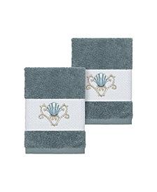 Linum Home Bella 2-Pc. Embroidered Turkish Cotton Washcloth Set