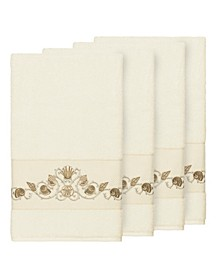 Bella 4-Pc. Embroidered Turkish Cotton Bath Towel Set