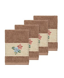 Caroline 4-Pc. Embroidered Turkish Cotton Washcloth Set
