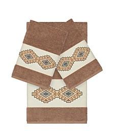 Gianna 3-Pc. Embroidered Turkish Cotton Bath and Hand Towel Set