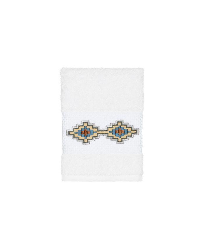 Linum Home - Gianna Embroidered Turkish Cotton Washcloth