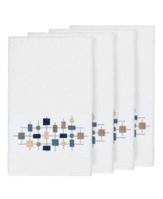 Khloe 4-Pc. Embroidered Turkish Cotton Bath Towel Set