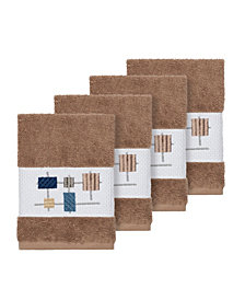 Linum Home Khloe 4-Pc. Embroidered Turkish Cotton Washcloth Set
