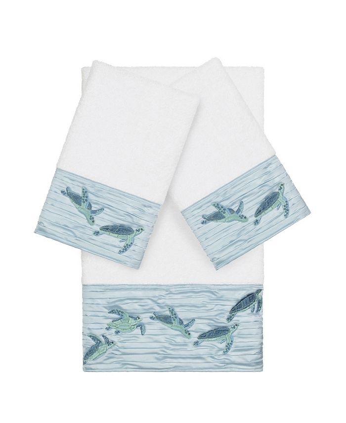 Linum Home - Mia 3-Pc. Embroidered Turkish Cotton Bath and Hand Towel Set