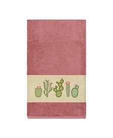 Mila Embroidered Turkish Cotton Bath Towel