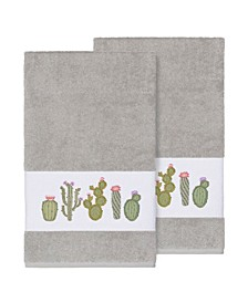 Mila 2-Pc. Embroidered Turkish Cotton Bath Towel Set