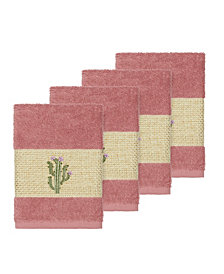 Linum Home Mila 4-Pc. Embroidered Turkish Cotton Washcloth Set