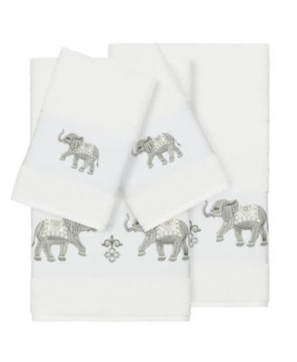 Quinn 4-Pc. Embroidered Turkish Cotton Bath and Hand Towel Set
