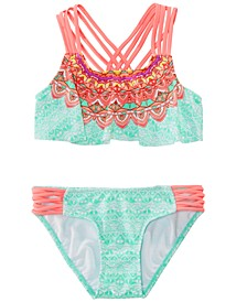 Big Girls 2-Pc. Printed Strappy Bikini