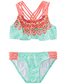 Summer Crush Big Girls 2-Pc. Printed Strappy Bikini