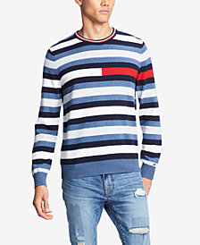 Tommy Hilfiger Men's Julian Logo Stripe Sweater, Created for Macy's