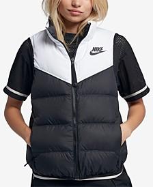 Women's Sportswear Windrunner Reversible Sleeveless Down Vest