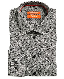Men's Slim-Fit Non-Iron Performance Stretch Paisley Dress Shirt
