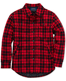 Polo Ralph Lauren Toddler Boys Plaid Double-Knit Cotton Workshirt