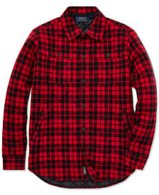 Polo Ralph Lauren Big Boys Plaid Double-Knit Cotton Workshirt