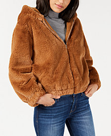 French Connection Arabella Hooded Faux-Fur Jacket
