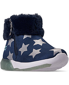 Skechers Little Girls' S Lights: Shimmer Lights - Star Gems Light-Up Boots from Finish Line