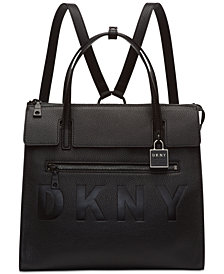 DKNY Commuter Leather Convertible Backpack, Created for Macy's