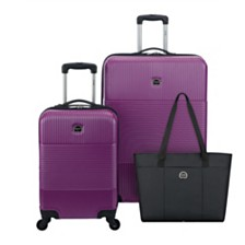 CLOSEOUT! Delsey Groove DLX 3-Pc. Luggage Set