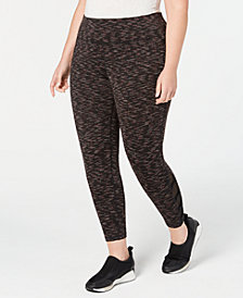 Ideology Plus Size Celestial Space-Dyed Cutout Leggings, Created for Macy's