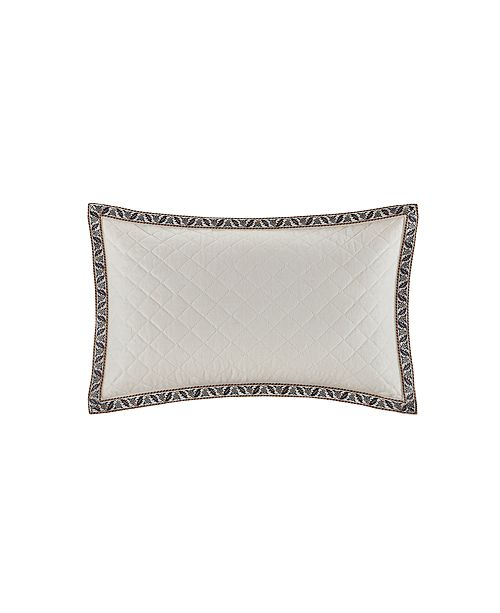"""Echo Design Paisley Shawl 12""""x18"""" Embroidered Quilted Cotton Oblong Decorative Pillow"""