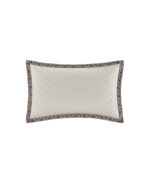 """Image of Echo Design Paisley Shawl 12""""x18"""" Embroidered Quilted Cotton Oblong Decorative Pillow Bedding"""