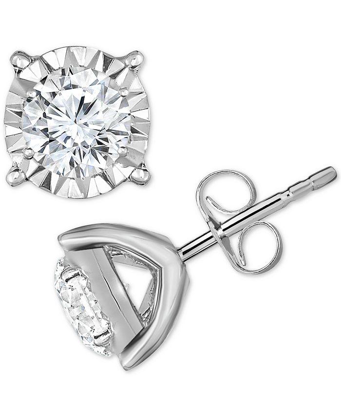 TruMiracle - Diamond Stud Earrings (3/4 ct. t.w.) in 14k White Gold