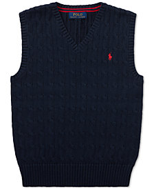 Polo Ralph Lauren Big Boys Cable-Knit Cotton Sweater Vest