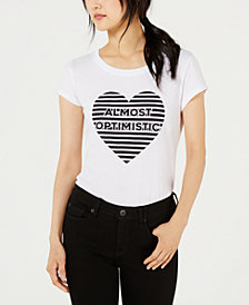 Love Tribe Juniors' Almost Optimistic Graphic-Print T-Shirt