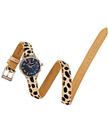 Lucky Brand Women's Torrey Mini Leopard Leather Strap Watch 28mm