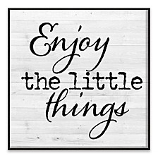 Enjoy The Little Things Recessed Box