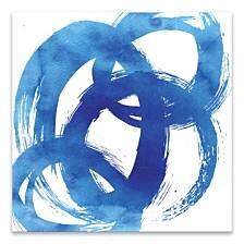 Blue Swoosh Coated Embellished Canvas