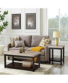 Caleb 2 Piece Occasional Table Set-Coffee Table and End Table