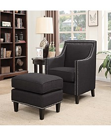 Emery Chair and Ottoman