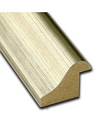 Amanti Art Warm Silver Swoop 32x14 Framed Beige Cork Board