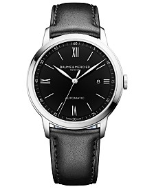 Baume & Mercier Men's Swiss Automatic Classima Black Leather Strap Watch 42mm