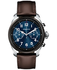 Montblanc Men's Swiss Summit 2 Brown Leather Strap Touchscreen Smart Watch 42mm